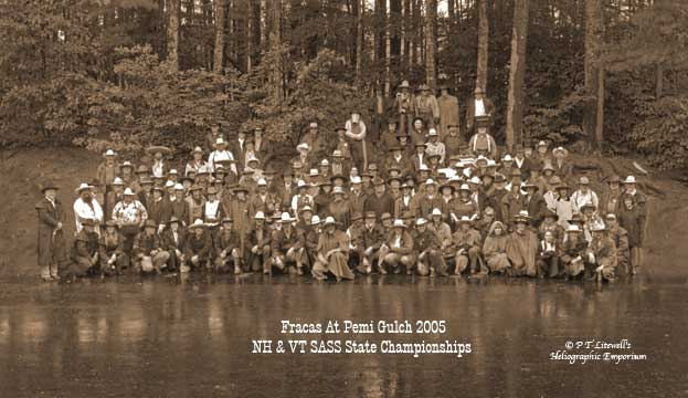 Group shot of the competitors at the 2005 Fracas at Pemi Gulch.