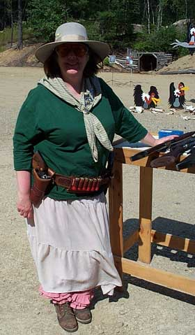 Pistol Packing Punky at Pemi Gulch in July 2002.
