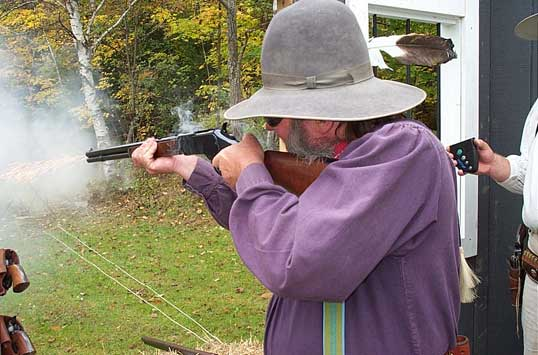 Shooting rifle at 2003 Outlaws Revenge at Falmouth, ME.